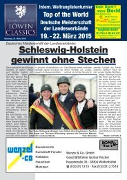 Schleswig-Holstein gewinnt ohne Stechen