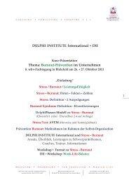 Burnout-Prävention im Unternehmen - 9. wbv-Fachtagung ...
