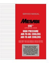 CSC™ HigH PreSSure Air-To-oil CoolerS Air-To ... - L&M Radiator Inc.