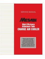 High Efficiency Aluminum Tube Charge Air Cooler - L&M Radiator Inc.
