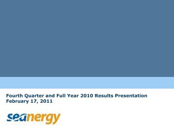 Download Presentation (PDF) - Seanergy Maritime Holdings Corp.