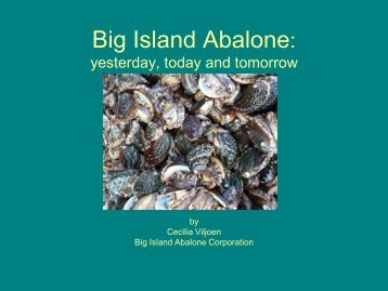 Viljoen Abalone - Oceanic Institute