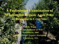 Research Ideas on Washington Organic Apples