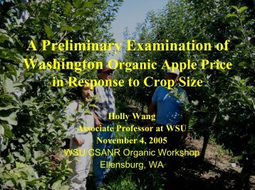 Research Ideas on Washington Organic Apples