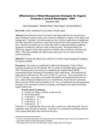 Effectiveness of Weed Management Strategies for Organic Orchards ...