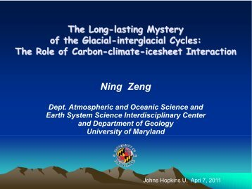 The Long-Lasting Mystery of the Glacial-interglacial Cycles: The ...