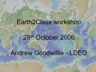 Andrew Goodwillie's presentation