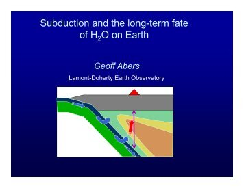Subduction and the Long-Term Fate of H2O