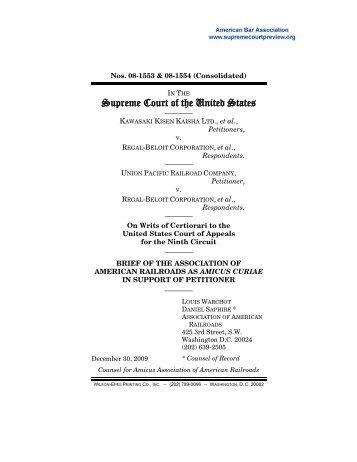 Association of American Railroads - Lyons & Flood