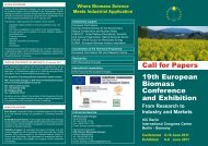 Call for Papers 19th European Biomass Conference and Exhibition