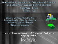 Effects of Rice Husk Biochar Produced under Slow Pyrolysis on ...
