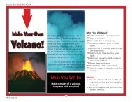 Make Your Own Volcano - NOAA Celebrates 200 Years of Science ...