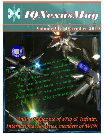 Vol 6. Published 12/01/2010 - IQ Nexus Intro Page