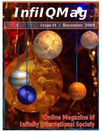 Online Magazine of Infinity International Society - IQ Nexus Intro Page