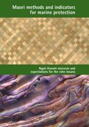 Maori methods and indicators for marine protection - MarineNZ.org.nz