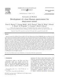 Development of a laser Raman spectrometer for deep-ocean science