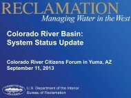 Colorado River Basin: System Status Update