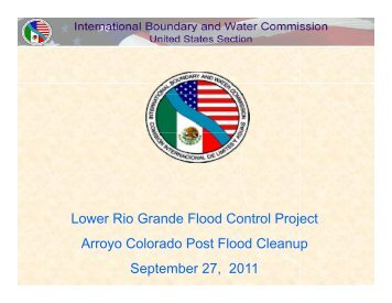 Lower Rio Grande Flood Control Project Arroyo Colorado Post ...