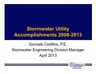 Stormwater Utility Accomplishments 2008-2013