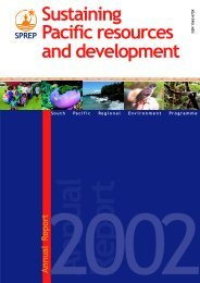 SPREP Annual Report 2002 - International Coral Reef Action Network