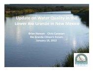 Update on Water Quality in the L Ri G d i N M i Lower Rio Grande in ...