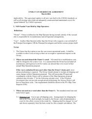 1 UNOLS VAN SHARED-USE AGREEMENT March 2004 ...