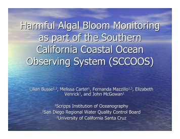 view presentation as a pdf - Southern California Coastal Ocean ...