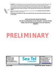 Installation and Operation Manual - r/v oceanus