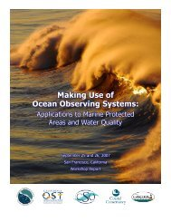 Making Use of Ocean Observing Systems: Applications to Marine ...