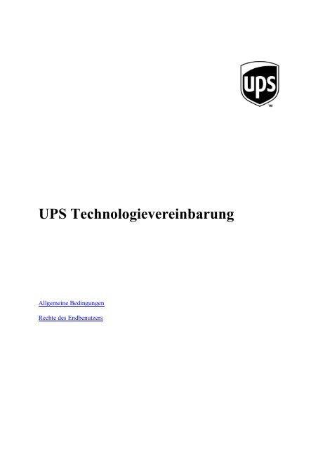 Ups Technologievereinbarung