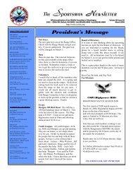 President's Message - Kenmore Shooting Range