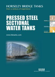 PRESSED STEEL SECTIONAL WATER TANKS - Balmoral Group