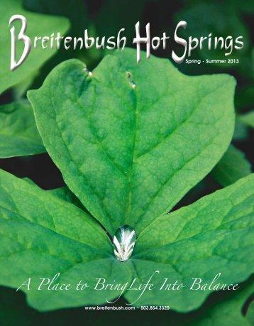 A Place to BringLife Into Balance - Breitenbush Hot Springs