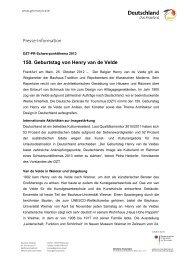 150. Geburtstag von Henry van de Velde (PDF - Deutschland