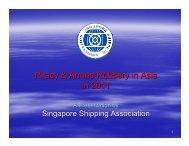 Piracy & Armed Robbery in Asia in 2011 - ReCAAP