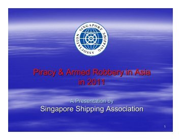 Piracy & Armed Robbery in Asia in 2011 - ReCAAP