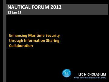 NAUTICAL FORUM 2012 - ReCAAP
