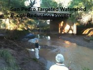 San Pedro Targeted Watershed E. coli Reduction Project