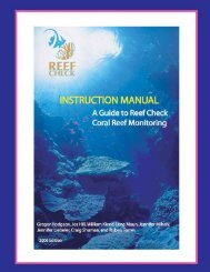 RC Instruction Manual - Reef Check Malaysia