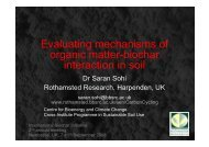 Evaluating mechanisms of organic matter-biochar interaction in soil