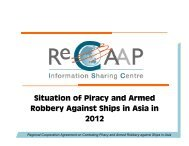 Situation of Piracy and Armed Robbery Against Ships in ... - ReCAAP