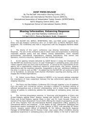 Sharing Information , Enhancing Response - ReCAAP