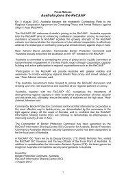 Australia joins the ReCAAP
