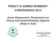 PIRACY & ARMED ROBBERY CONFERENCE 2013 - ReCAAP
