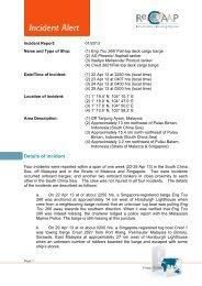 Details of Incident - ReCAAP