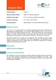 Details of Incident Reported by Comments by ReCAAP ISC
