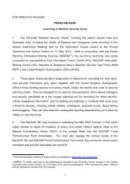 PRESS RELEASE 1 The Admiralty Maritime Security ... - ReCAAP