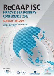 Piracy and Sea Robbery Conference 2013 Report - ReCAAP