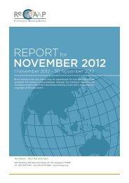 REPORT NOVEMBER 2012 - ReCAAP