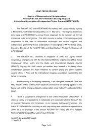 Signing of MoU between ReCAAP ISC and INTERTANKO